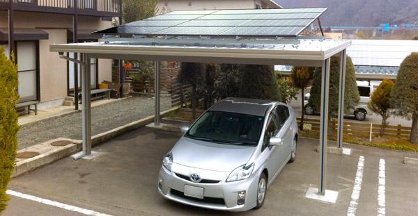 太陽光発電搭載型のカーポート